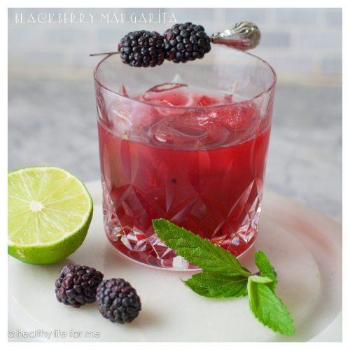 Blackberry Margarita Cocktail Recipe | ahealthylifeforme.com