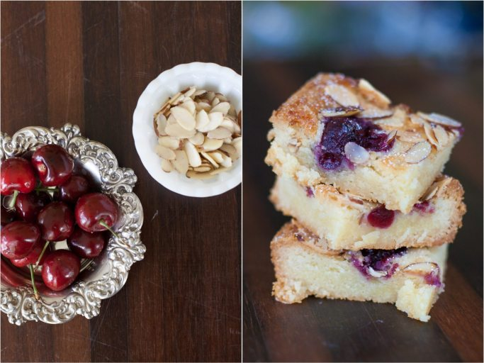 Almond Bars with Cherries dessert baked goods
