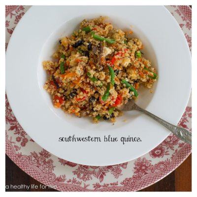 Southwestern Blue Quinoa Salad