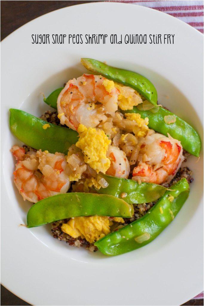 Sugar Snap Pea Shrimp and Quinoa Stir Fry