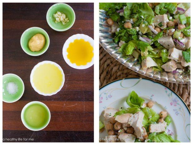 Chicken and Chickpea Salad Avocado Red Onion Bibb Lettuce Healthy