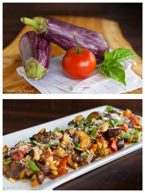 Roasted Eggplant and Tomato Salad | ahealthylifeforme.com