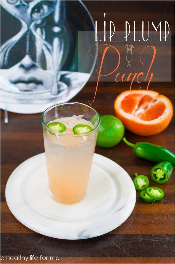 Lip Plump Punch Grapefruit Lime Juice Honey Tequila