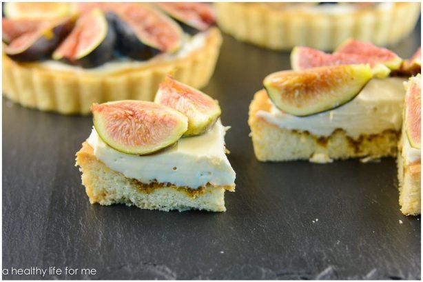 Fresh Figs Mascarpone Cheese Honey Dessert Baked Good Tart