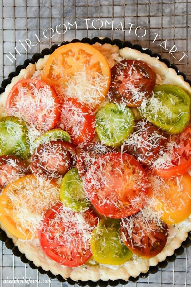 Heirloom Tomato Tart Recipe | ahealthylifeforme.com