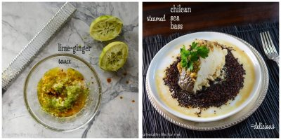 Steamed Sea Bass with Lime and Ginger Recipe | ahealthylifeforme.com