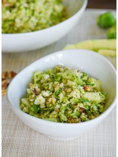 Brussels Sprouts and Apple Salad with Blue Cheese