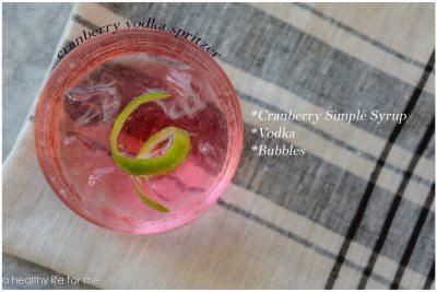 Cranberry Vodka Spritzer Cocktail Recipe | ahealthylifeforme.com