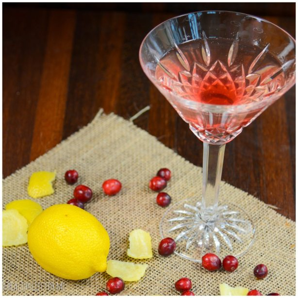 Cranberry Simple Syrup Limoncello Holiday Cocktail