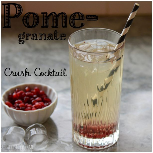Pomegranate Crush Cocktail Champagne Gin New Years
