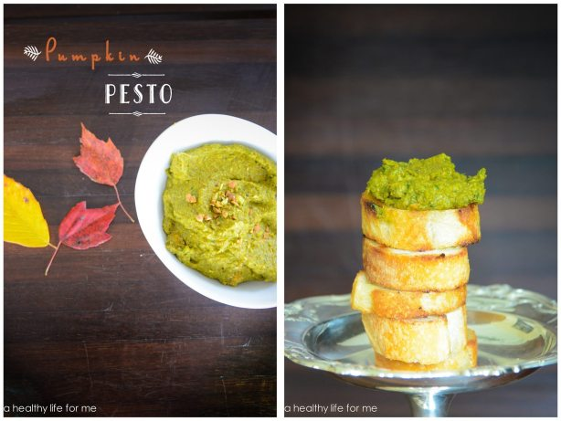 Pumpkin Pesto Healthy Appetizer dip