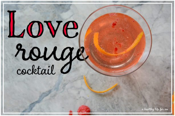 Love Rouge Valentine's Day Cocktail Vodka Champagne
