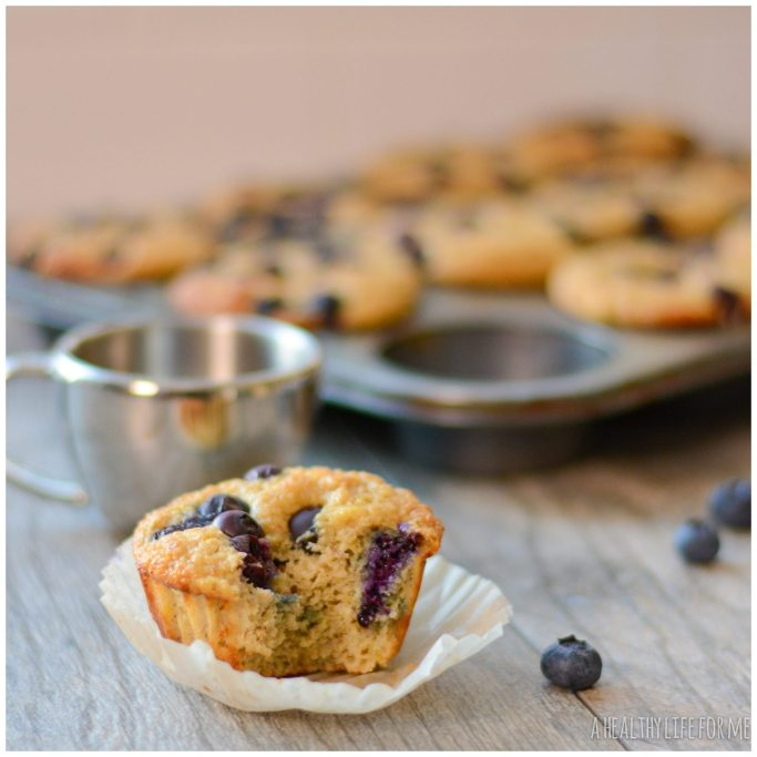 Blueberry Protein Muffin Recipe | ahealthylifeforme.com