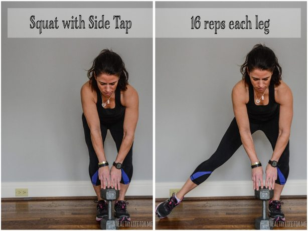 Squat with Side Tap Leg Exercise
