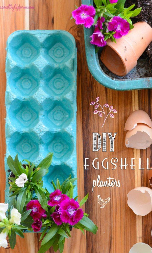 DIY Eggshell planters 5 Easy Earth Day Craft Ideas