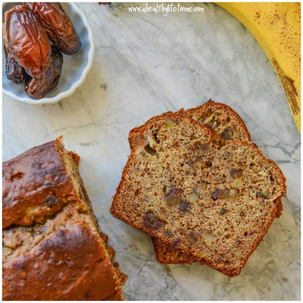 Gluten Free Banana Walnut Date Bread copy