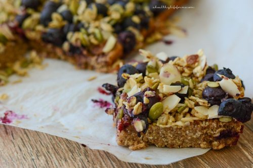 Oatmeal Superfood Breakfast Bars Recipe | ahealthylifeforme.com
