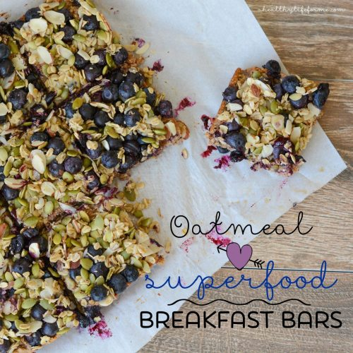 Oatmeal Superfood Breakfast Bars Healthy Treat Recipe | ahealthylifeforme.com