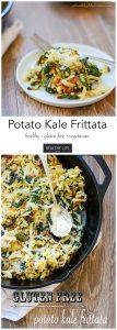 Potato Kale Frittata gluten Free vegetarian recipe | ahealthylifeforme.com