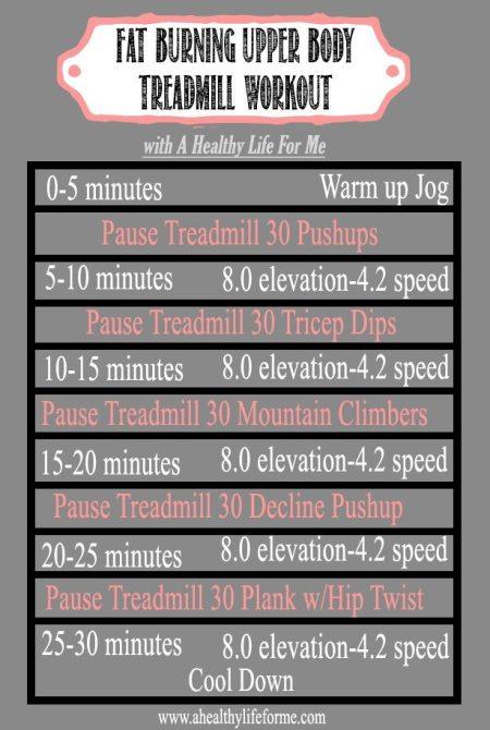 Upper Body Fat Burning Treadmill Workout