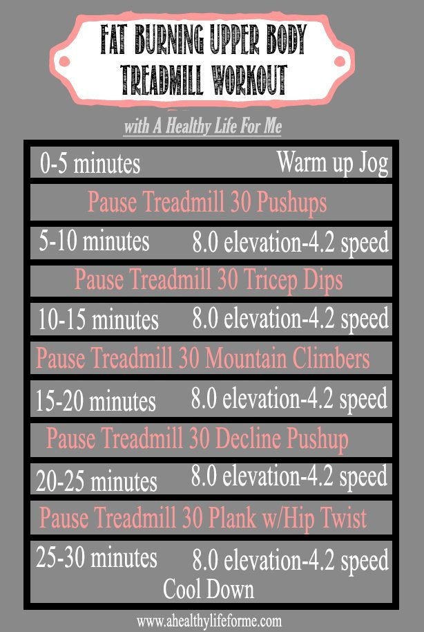 Upper Body Fat Burning Treadmill Workout | 52 Tips for Health and Fitness Success Tip #11