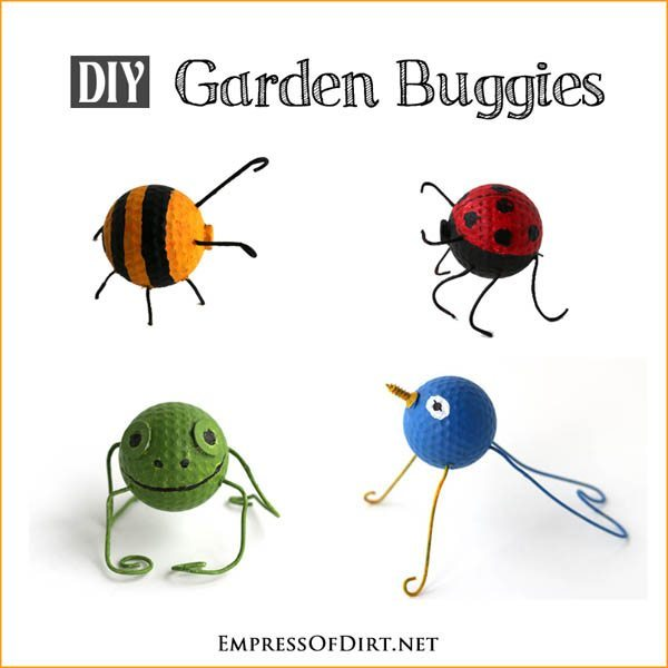 DIY Golf-Ball-Garden-Buggies-5 Easy Earth Day Craft Ideas