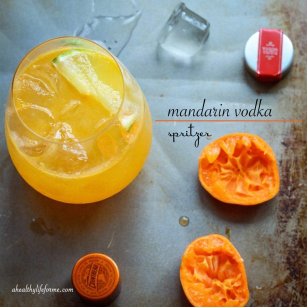 Mandarin Vodka Spritzer Cocktail