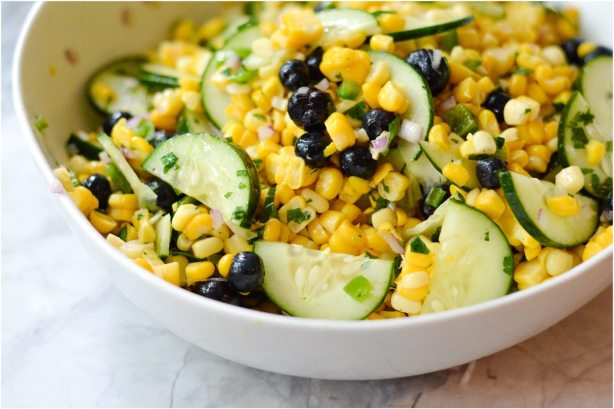 Blueberry Corn Salad | ahealthylifeforme.com