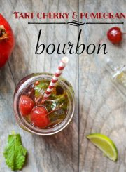 Tart Cherry Pomegranate Bourbon Cocktail perfect to way to celebrate spring   ahealhtylifeforme.com
