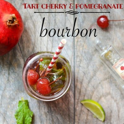 Tart Cherry Pomegranate Bourbon Cocktail
