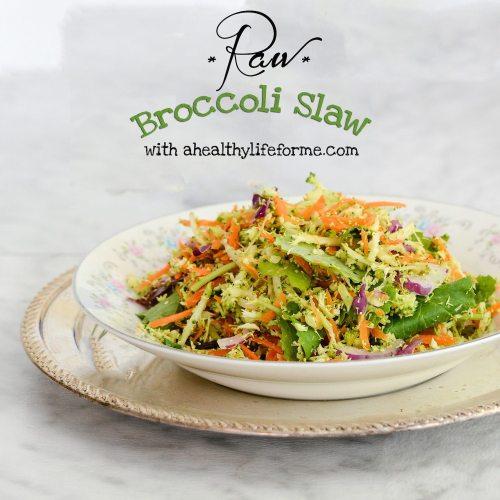 Raw Broccoli Slaw Recipe | ahealhtylifeforme.com