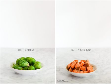 Brussels Sprouts and Cubed Sweet Potato