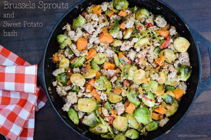 Brussels Sprouts and Sweet Potato Hash-1