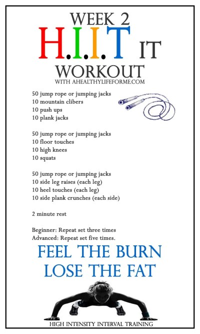 HIIT it Workout | ahealthylifeforme.com