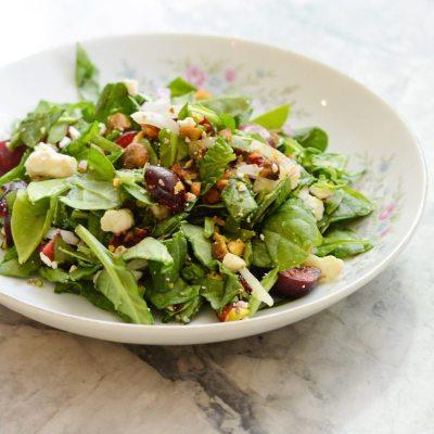 Spinach Cherry Salad