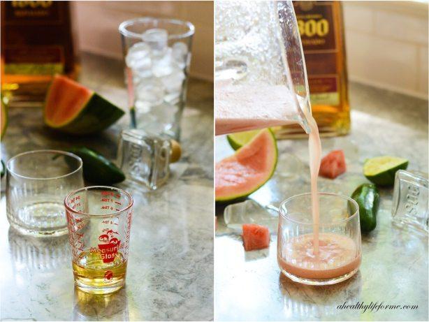 Spicy Watermelon Margarita Cocktail | ahealhtylifeforme.com