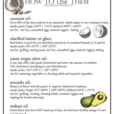 5 Healthy Oils