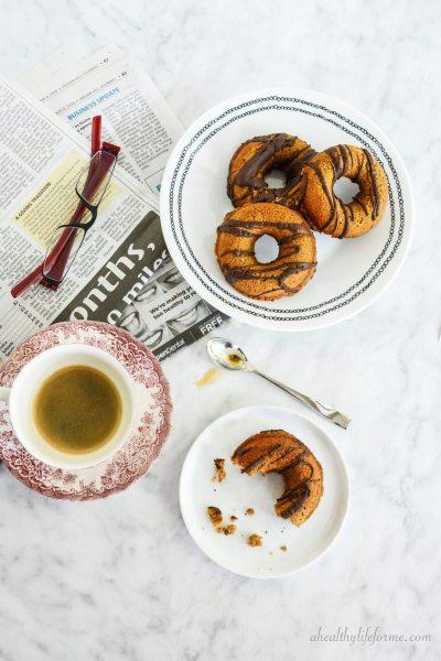 Paleo and Gluten Free Pumpkin Chocolate Donut Recipe | ahealthylifeforme.com
