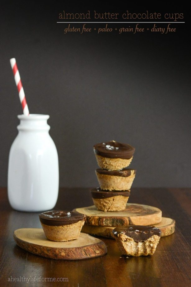 almond butter chocolate cups recipe gluten free paleo grain free dairy free   ahealthylifeforme.com