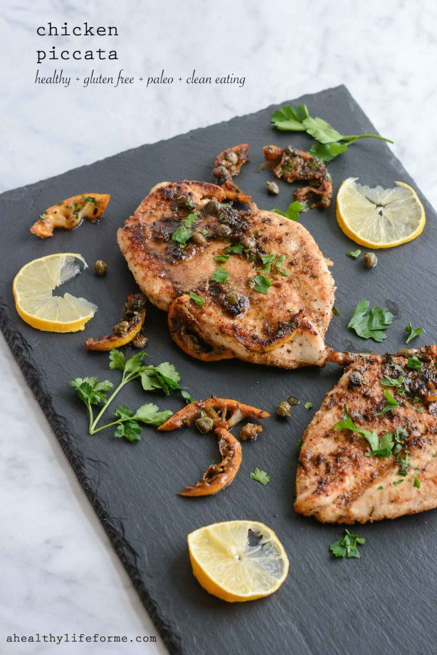 Chicken Piccata Recipe is Gluten Free Grain Free Soy Free and Paleo   ahealthylifeforme.com
