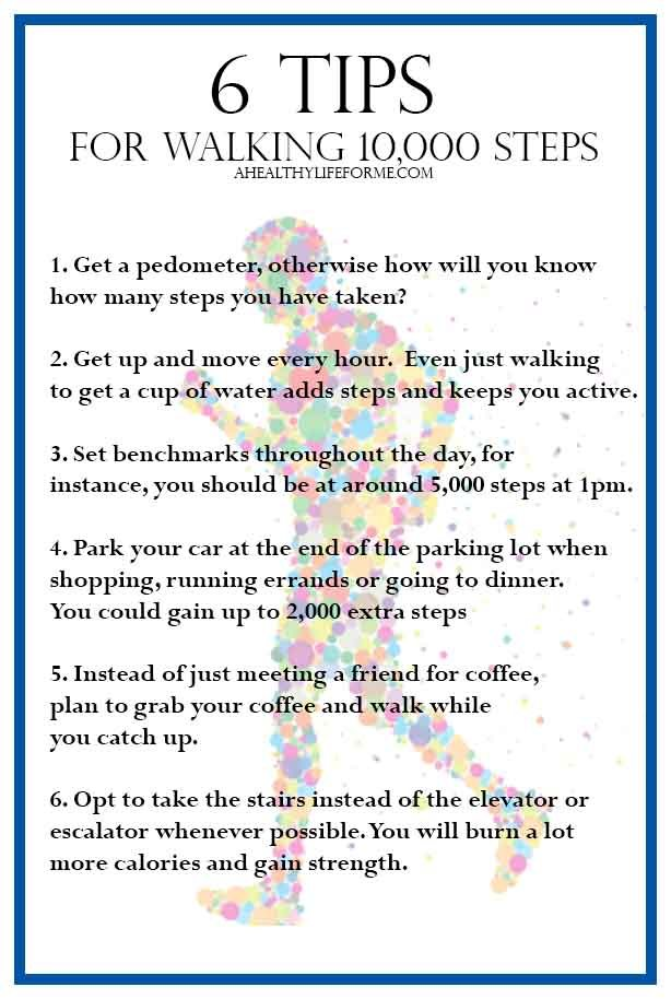 6 Tips to Walking 10,000 Steps Everyday | ahealthylifeforme.com
