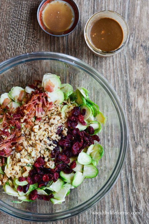 Brussels Sprouts Cranberry Salad with Greek Yogurt Vinagrette Recipe Gluten Free Grain Free