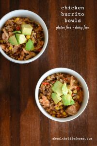 Chicken Burrito Bowl Gluten Free Recipe   ahealthylifeforme.com