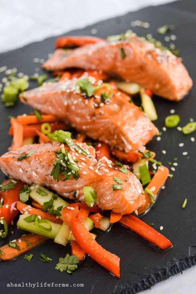 Paleo Salmon Teriyaki gluten free and dairy free healthy easy under 30 minutes   ahealhtylifeforme.com