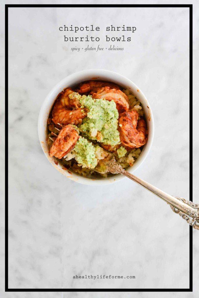 Chipotle Shrimp Burrito Bowl Recipe Gluten Free   ahealthylifeforme.com