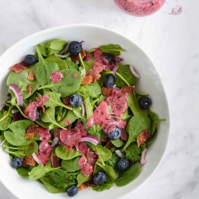 Blueberry Bacon Spinach Salad {paleo + gluten free}
