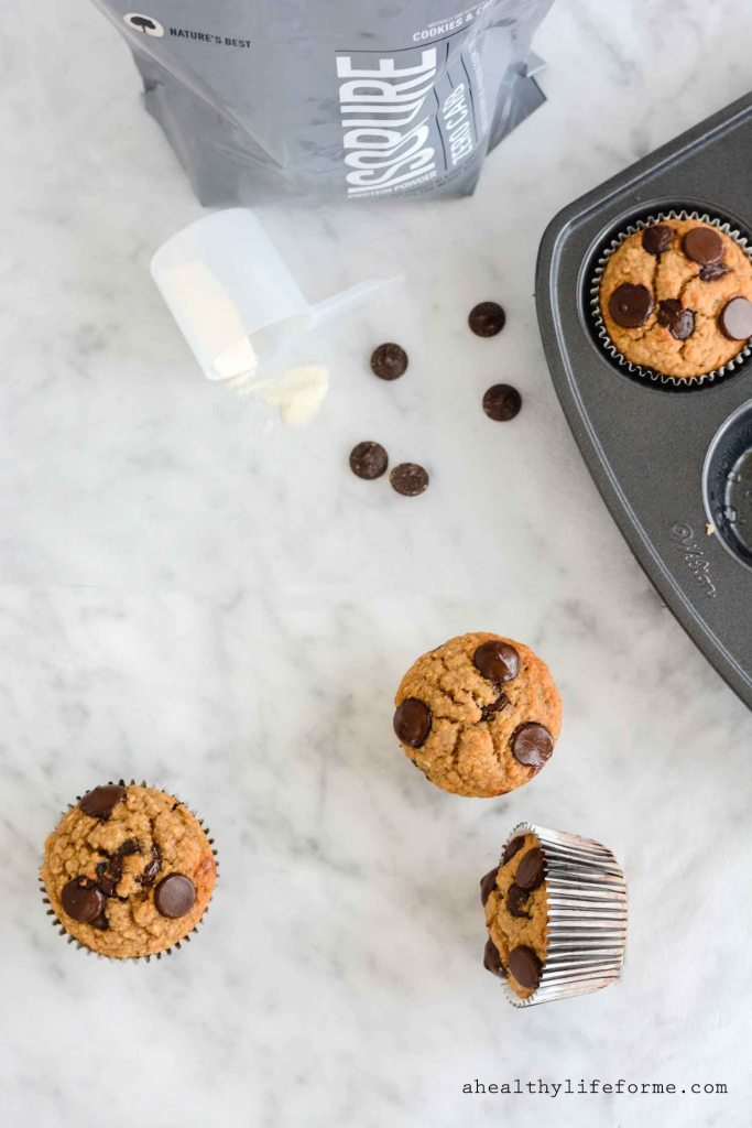 Cookies and Cream Protein Muffins Gluten Free Healthy Protein Packed Recipe | ahealthylifeforme.com