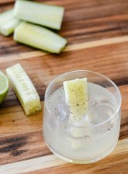 Cucumber Lime Black Pepper Cocktail Recipe | ahealthylifeforme.com