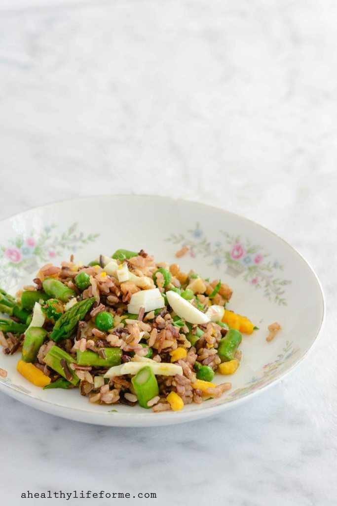 Spring Rice Salad Dairy Free Gluten Free Recipe | ahealthylifeforme.com