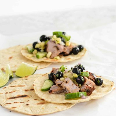 Blueberry Pork Corn Tacos